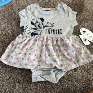 Disney baby Minnie Mouse onsie with attached skirt